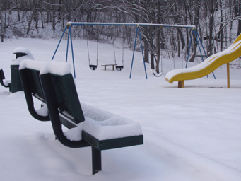 Playground B in winter